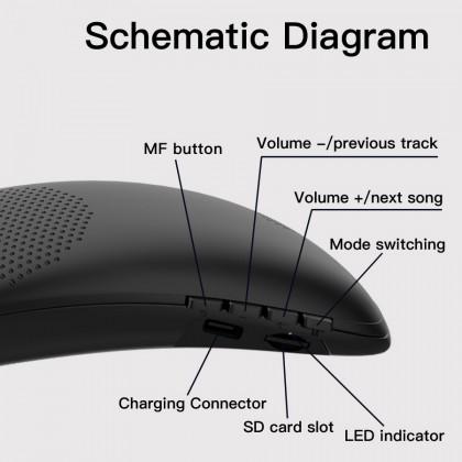 Bluedio HS Hurricane Neck Mounted Bluetooth Portable Wireless FM Speaker
