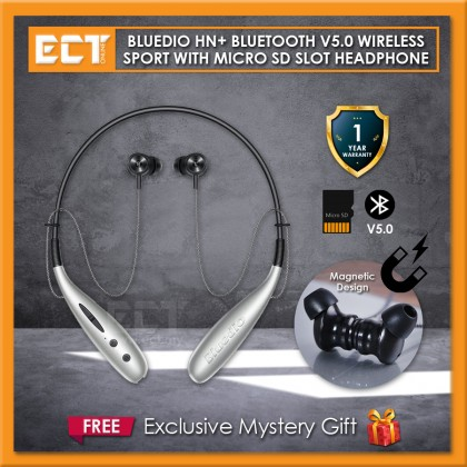 Bluedio HN+ Bluetooth Wireless Sport with Micro SD Card Magnetic Neckband Headphone Headset