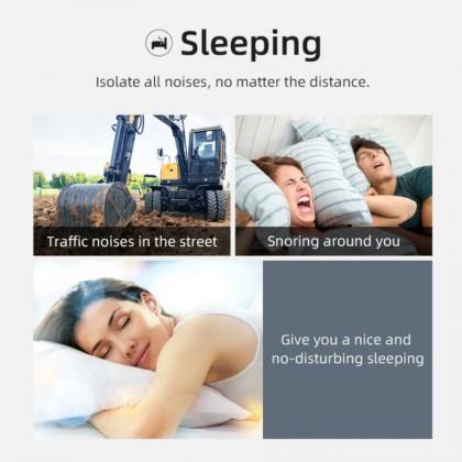 Bluedio NE Silicone Earbunds 40dB Noise Reduction Anti Noise Sleeping Earplugs