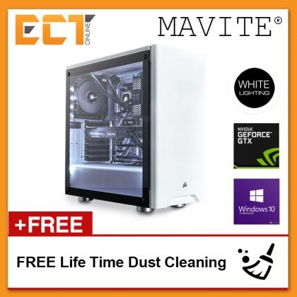(2018 Latest) Mavite G8 Exclusive White Theme Gaming Desktop PC (i5-7600K,GTX1060-6G,240GB SSD+1TB,16GB,W10P)