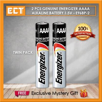 2 Pcs Genuine Energizer AAAA Alkaline Battery 1.5V - E96BP-2