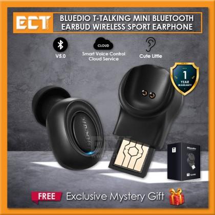 Bluedio T Talking Mini Bluetooth Earbud Wireless Sports Earphone - Black